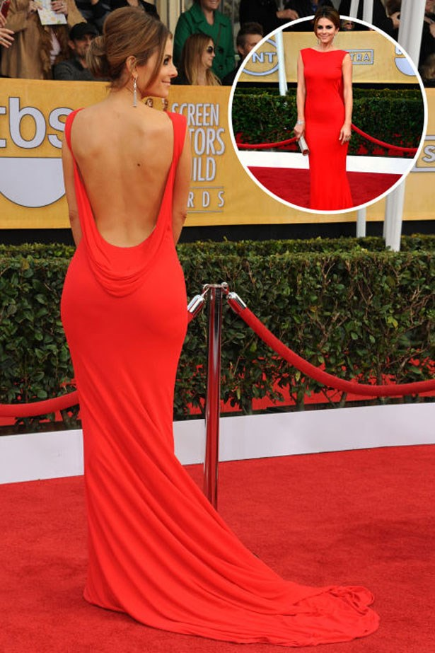 <p>MARIA MENOUNOS</p> <p>In Romona Keveza at the 2013 Screen Actors Guild Awards</p>