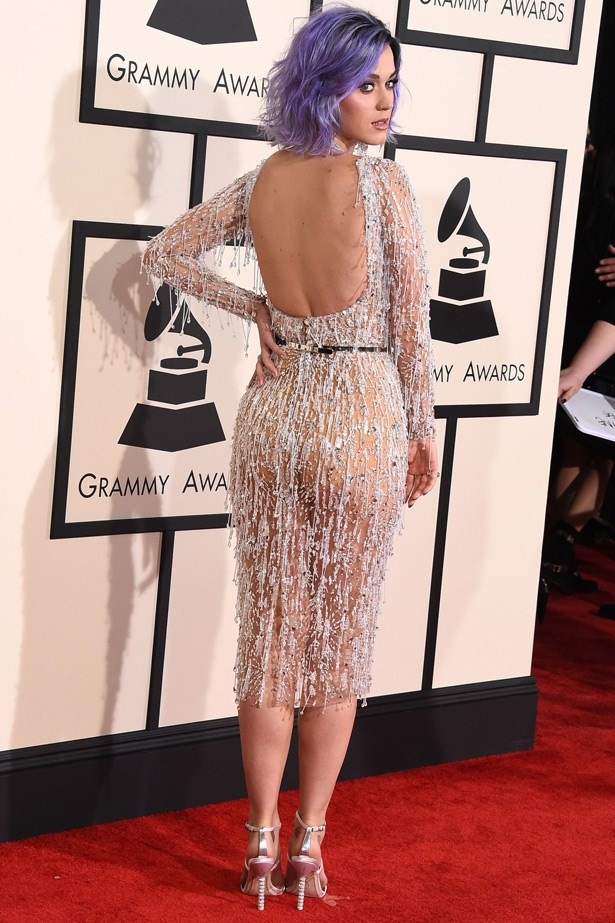 Katy Perry wearing Zuhair Murad and shoes by Sophia Webster