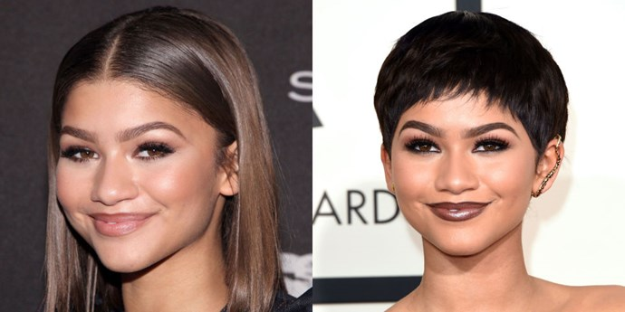 ZENDAYA<br> The Grammy red carpet is the perfect place to debut a major new haircut, especially if it's an adorable new pixie like Zendaya's. This girl can truly pull-off any style.