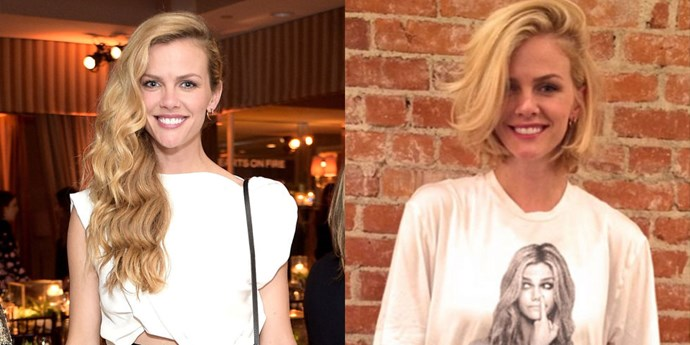 BROOKLYN DECKER<br> Another day, another bob: Brooklyn Decker is the latest celebrity to leave the salon with this ultra-trendy 'do. Maybe she's been thinking about if for a while, but there was no easing into this shorter look. She just went for it and chopped ten inches off her long blonde locks!