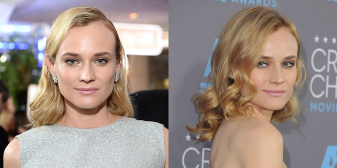 DIANE KRUGER<br> The adorably chic Diane Kruger showed up at the Critics' Choice Awards with freshly dyed strawberry blonde hair. The change is ever so subtle, but we think it suits her wonderfully.