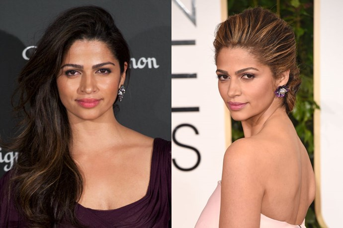CAMILA ALVES<br> Looks like Mrs. McConaughey got her answer. Days after crowdsourcing her Twitter followers and asking if she should go blonde, Camila Alves popped up with much lighter locks (although not quite as platinum as the wig she wore when she posed the question).