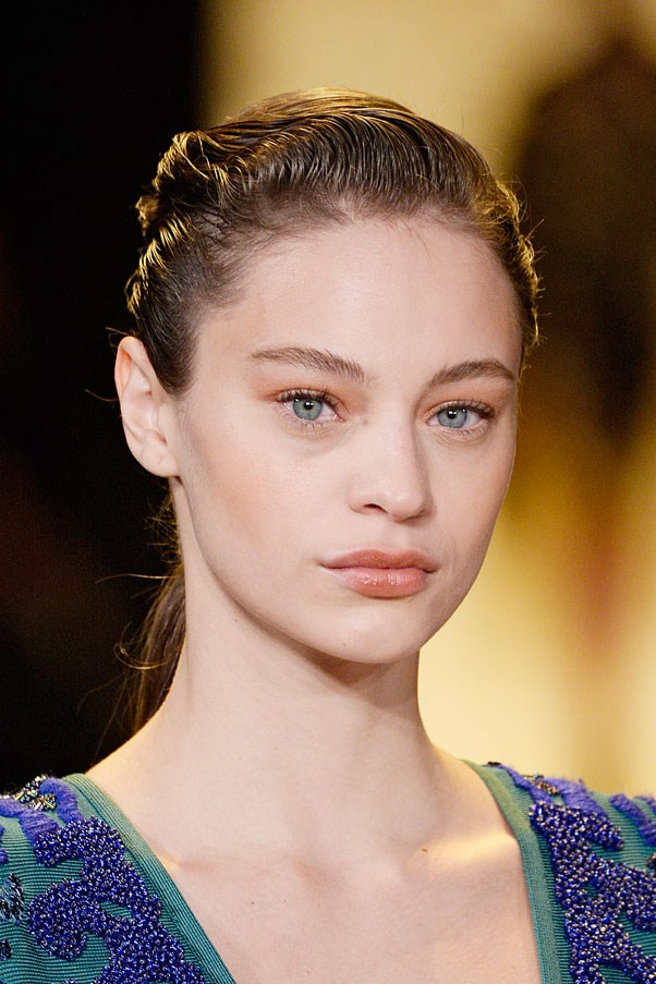 The French twist pony from Herve Leger Autumn Winter 15