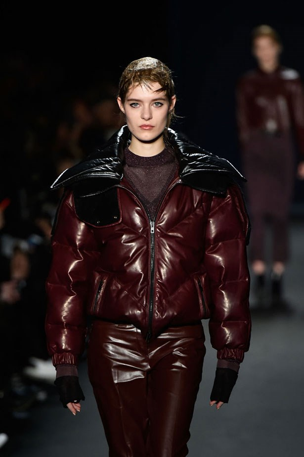 At Rag & Bone, glossy, cropped puffers had a moment.