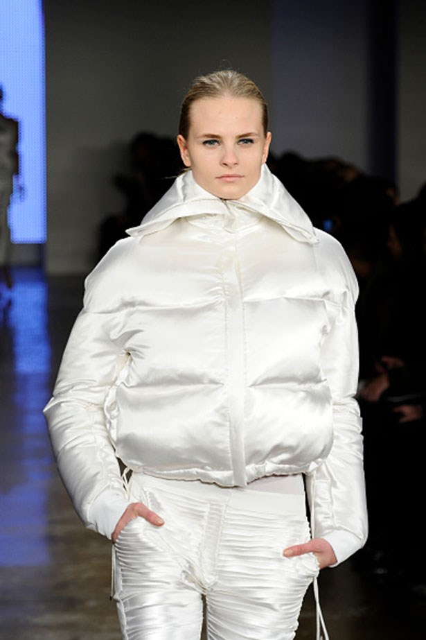 Dion Lee showed a stunning white puffer jacket that's better suited to the city than the slopes, but it's one of those outerwear pieces that would shine in just about any scenario.