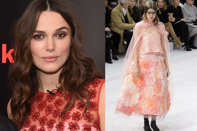 "Celebrity: Keira Knightley<br> Nominated for: Best Supporting Actress, <em>The Imitation Game</em><br> What we predict she might wear: <a href=""http://www.elle.com.au/runway/haute-couture/ss15/2015/1/chanel-haute-couture-ss15/"">Chanel Haute Couture SS15</a> <br>"