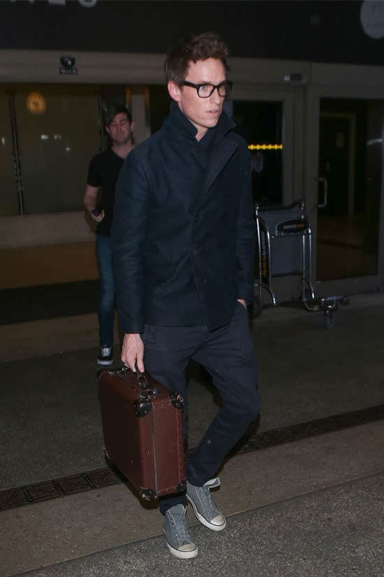 Eddie Redmayne spotted in Los Angeles.