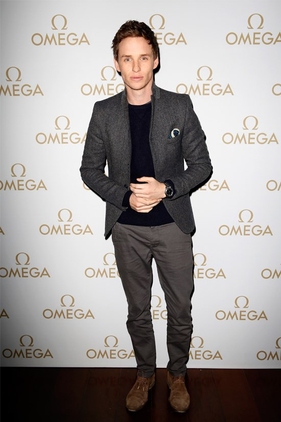 Eddie Redmayne at the Omega Oxford Street Opening party.