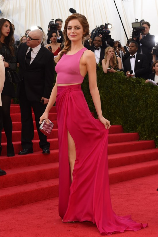 Emma Stone wearing Thakoon at the 2014 Met Gala.
