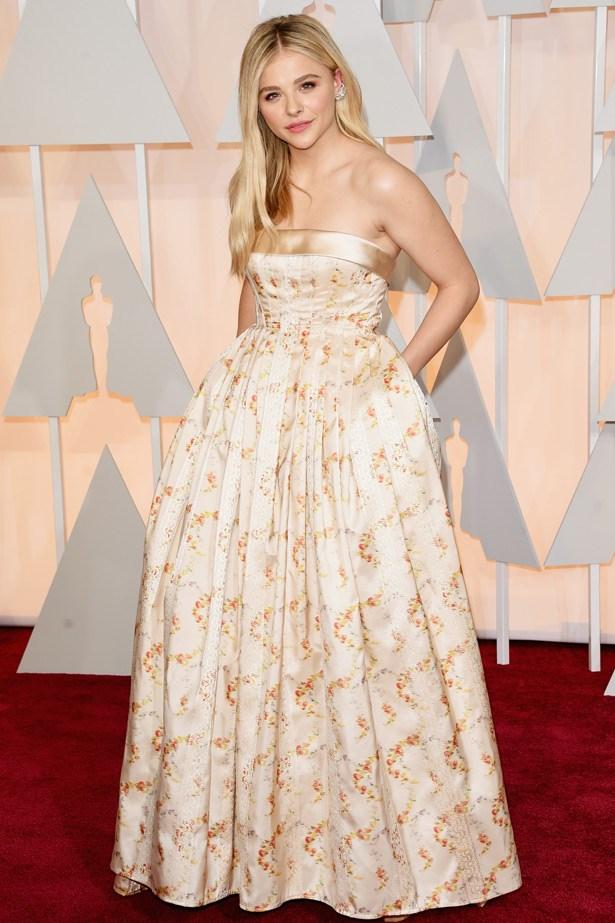Chloë Grace Moretz wears a gown by Miu Miu