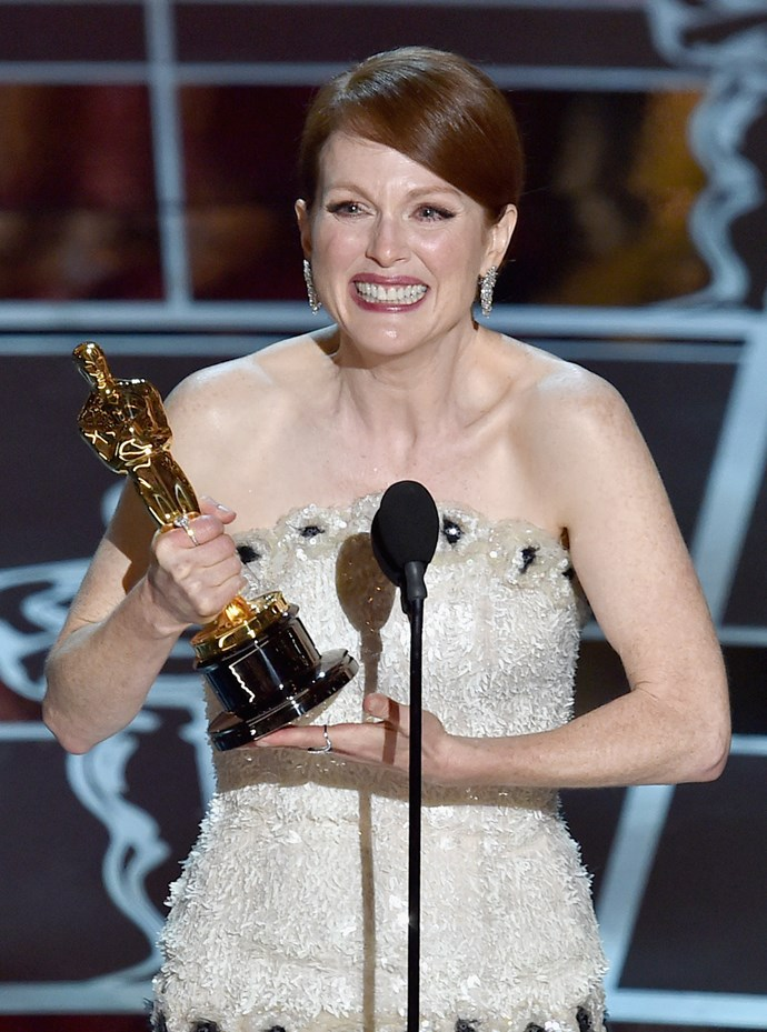 Julianne Moore was overwhelmed as she accepted her award