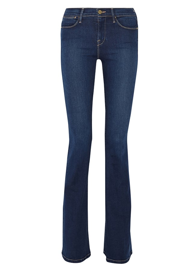 "<a href=""http://www.net-a-porter.com/product/515295/Frame_Denim/le-high-flare-high-rise-jeans"">Jeans, $240, Frame, net-a-porter.com</a>"
