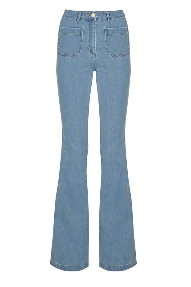 "<a href=""http://www.net-a-porter.com/product/504108/Michael_Kors/high-rise-flared-jeans "">Jeans, $618, Michael Kors, net-a-porter.com</a>"