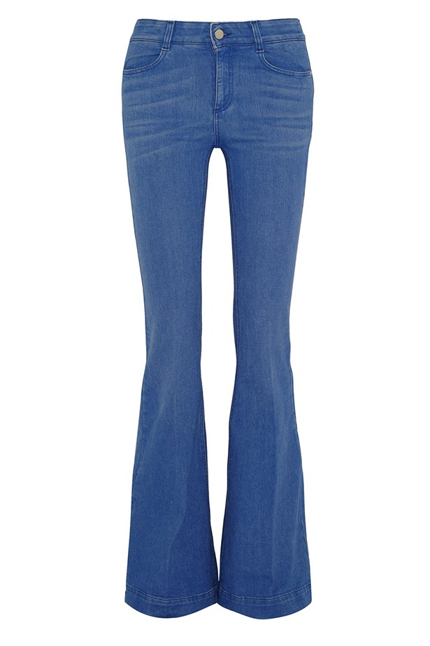 "<a href=""http://www.net-a-porter.com/product/504609/Stella_McCartney/high-rise-flared-jeans "">Jeans, $387.50, Stella McCartney, net-a-porter.com</a>"