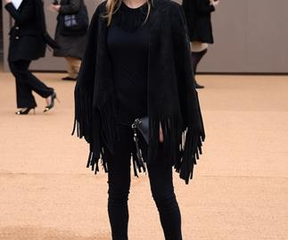 See what they're wearing at the Burberry show