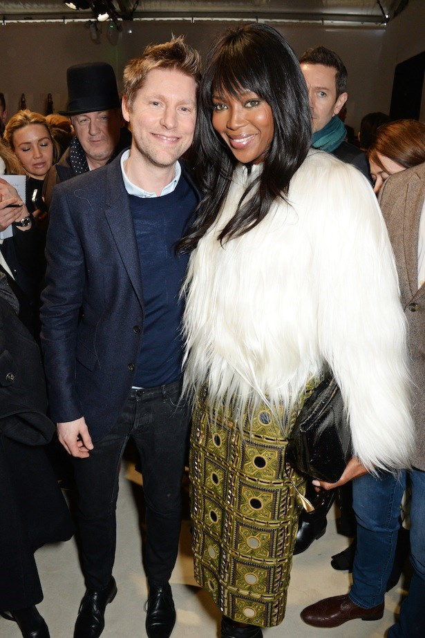 Burberry's Christopher Bailey with Naomi Campbell