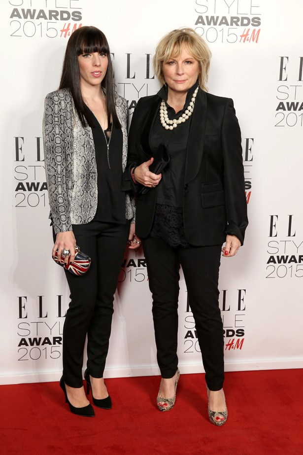 Jennifer Saunders and Ella Edmondson at the ELLE Style Awards