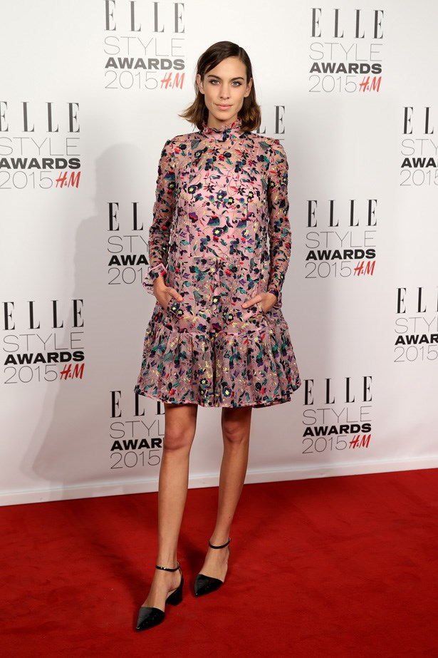 Alexa Chung at the ELLE Style Awards