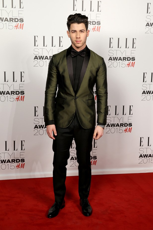 Nick Jonas at the ELLE Style Awards