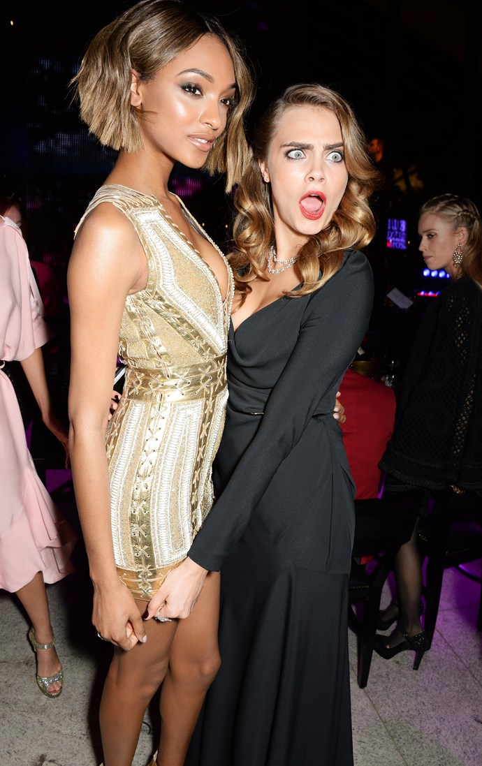 Jourdan Dunn and Cara Delevingne at the ELLE Style Awards