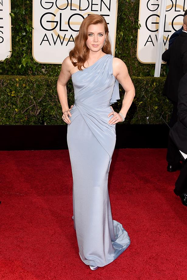 Versace: Amy Adams at the 2015 Golden Globes