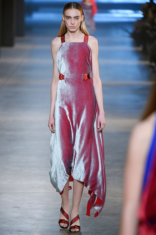 <strong>6. Velvet is V. cool</strong><br></br> Christopher Kane 's velvet dresses and suits are enough to make us want to stroke them.