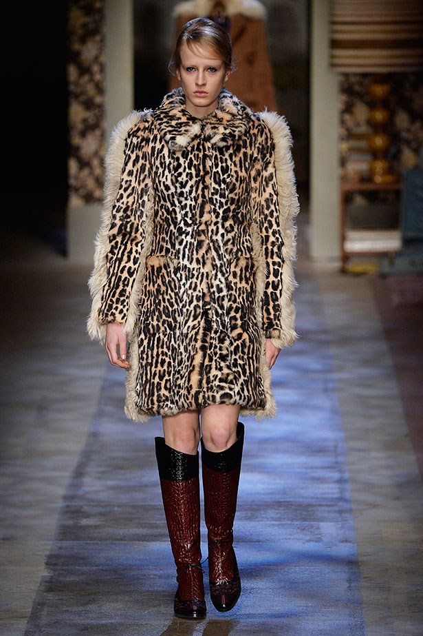 <strong>7. A leopard coat is a good investment</strong><br></br> For formidable style, see Erdem's pronounced version complete with sleeve tufts.