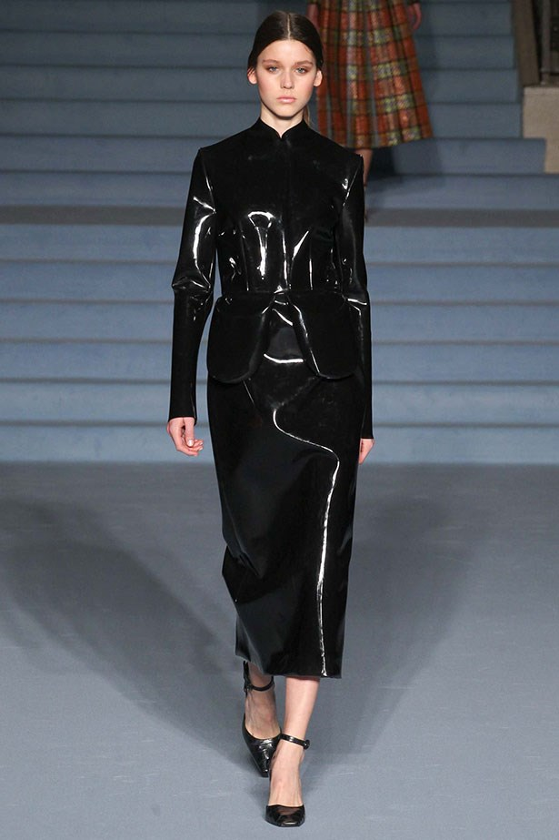 <strong>10. Wim Wenders makes for a cracking inspiration</strong><br></br> This black patent leather look coming down the carpeted stairs at Emilia Wickstead recalled a scene from <em>The Grand Budapest Hotel.</em> If it's good enough for an Oscar, it's good enough for us.