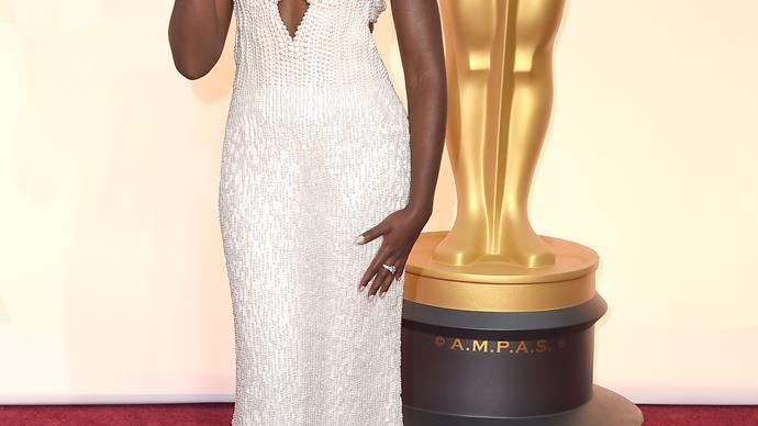 The Calvin Klein gown Lupita Nyong'o wore to the Oscars