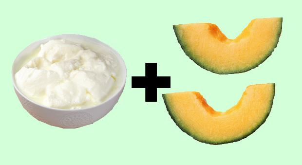 <strong>Non-Fat Greek Yogurt + Melon </strong><br><BR> Since dehydration can affect your ability to fall and stay asleep, choosing a high-water volume fruit like melon can make up for any missing drinks during the day. Others to try? Apples, oranges, and pears. After pairing any of these with the protein in the yogurt, you'll have a perfect sleep-inducing snack. Add a cup of cubed fruit to a 1/2 cup of Greek yogurt.