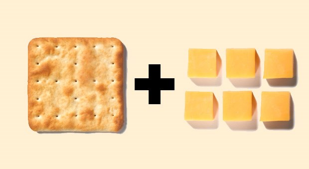 <strong>Crackers + Cheese</strong><BR><BR> The lean protein from dairy with the crunchy crackers is a perfect combo since it's chock-full of calcium, magnesium, and tryptophan all necessary for sleep. Pick a part-skim mozzarella cheese like string cheese to keep total calories and fat content at bay (too much fat can keep you awake), and add about 15 small whole grain crackers.