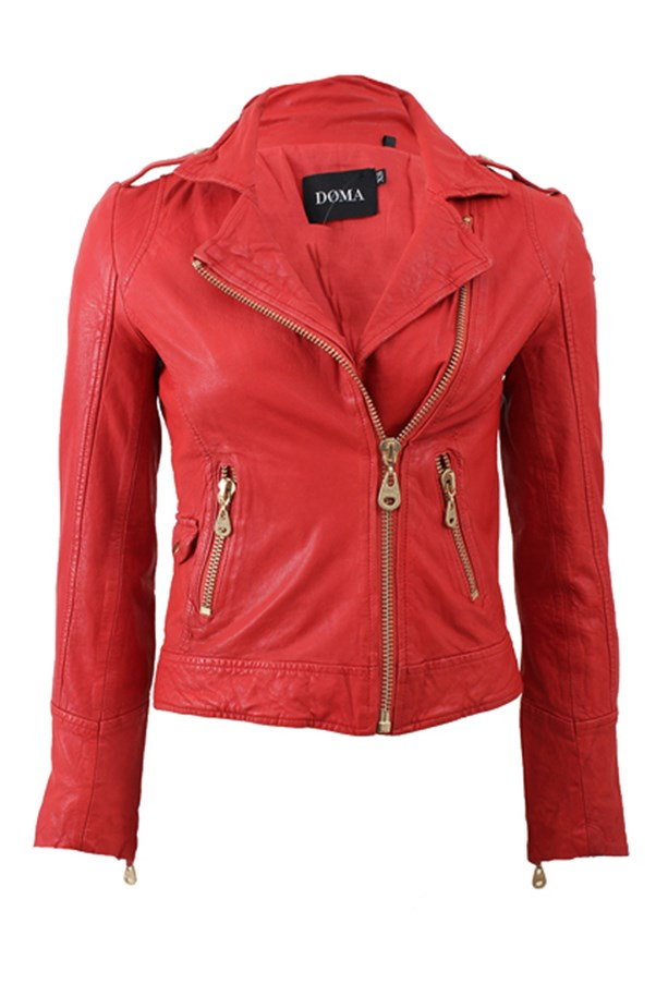 """<strong>DOMA</strong> Leather Moto Jacket <em>$842</em> available at <a href=""""http://www.marissacollections.com/shop/leather-moto-jacket-5652.html?siteID=J84DHJLQkR4-MoOceK102OFmHaF2r.qb6g"""">Marissa Collections</a>"""