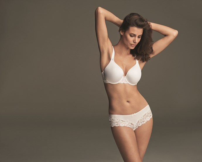"Memory Foam Bra <br/><br/> Exclusive to Marks and Spencer, our perfect fit bras use memory foam to mould to your unique shape so that the bra fits as though it was made just for you! <br/><br/> Click <a href=""http://ad.doubleclick.net/ddm/trackclk/N8061.158950ELLE/B8574550.116091231;dc_trk_aid=289098860;dc_trk_cid=61757992"">here</a> to buy now."