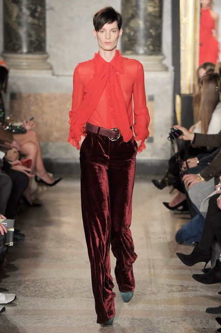 Crushed, loose and wide-legged at Emilio Pucci