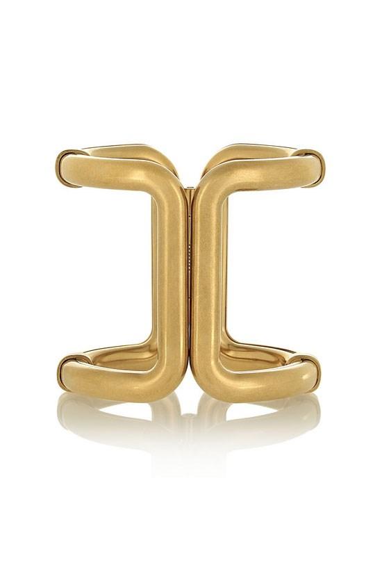 "Gold-plated cuff, $888.76, Lanvin, <a href=""http://www.net-a-porter.com/au/en/product/542145"">www.net-a-porter.com</a>"