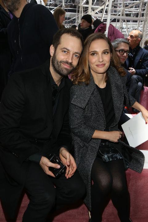 <strong>BENJAMIN MILLEPIEDS AND NATALIE PORTMAN</strong> At Christian Dior.