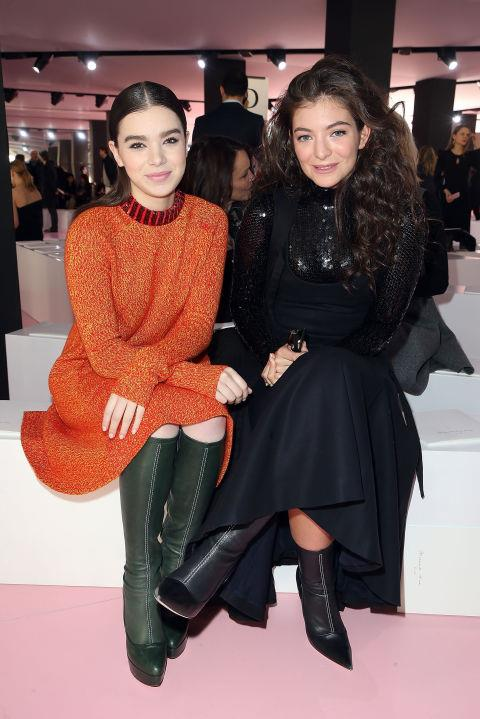 <strong>HAILEE STEINFELD AND LORDE</strong> At Christian Dior.