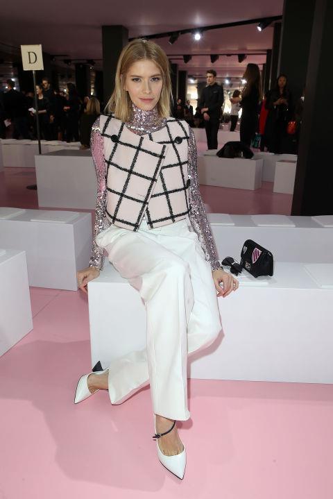<strong>ELENA PERMINOVA</strong> At Christian Dior.