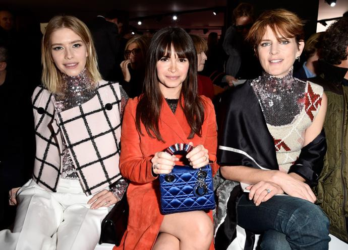 <strong>ELENA PERMINOVA, MIROSLAVA DUMA, AND STELLA TENNANT</strong> At Christian Dior.