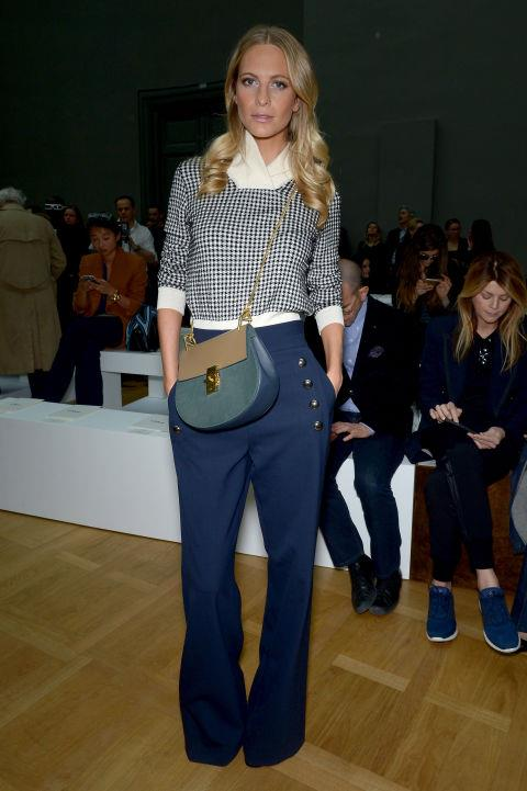 <strong>POPPY DELEVINGNE</strong> At Chloé.