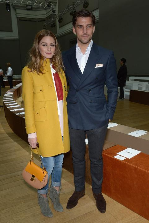 <strong>OLIVIA PALERMO AND JOHANNES HUEBL</strong> At Chloé.
