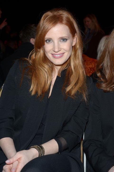 <strong>JESSICA CHASTAIN</strong> At Givenchy.