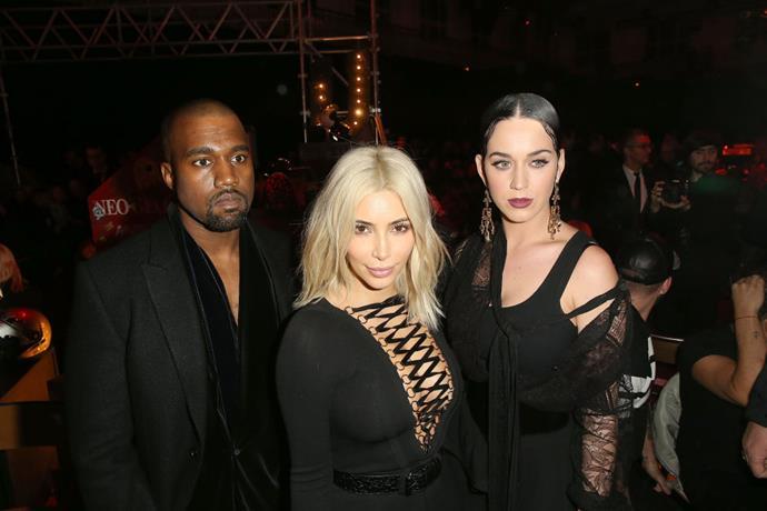 KANYE WEST, KIM KARDASHIAN, AND KATY PERRY At Givenchy.