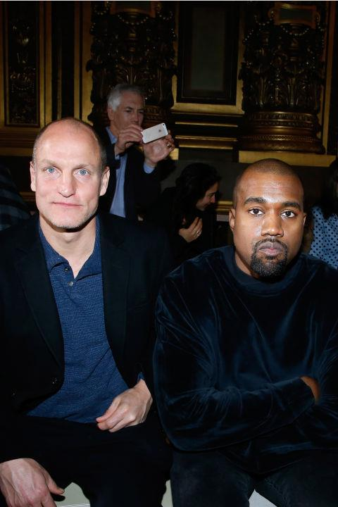 <strong>WOODY HARRELSON AND KANYE WEST</strong> At Stella McCartney.