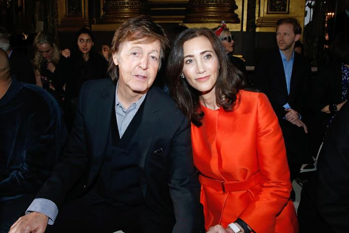 <strong>PAUL MCCARTNEY AND NANCY SHEVELL</strong> At Stella McCartney.
