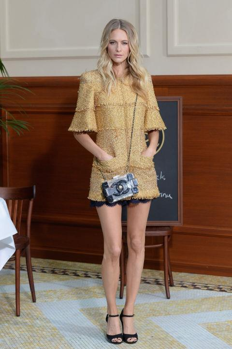 <strong>POPPY DELEVINGNE</strong> At Chanel.