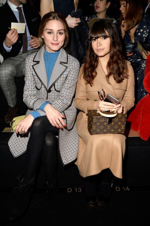 <strong>OLIVIA PALERMO AND MIROSLAVA DUMA</strong> At Valentino.