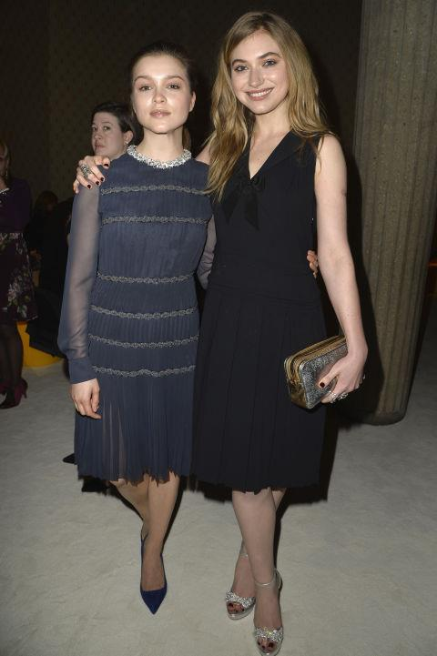 <strong>SOPHIE COOKSON AND IMOGEN POOTS</strong> At Miu Miu.