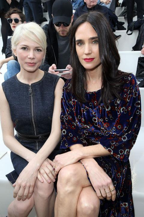 <strong>MICHELLE WILLIAMS AND JENNIFER CONNELLY</strong> At Louis Vuitton.