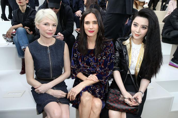 <strong>MICHELLE WILLIAMS, JENNIFER CONNELLY, AND FAN BINGBING</strong> At Louis Vuitton.